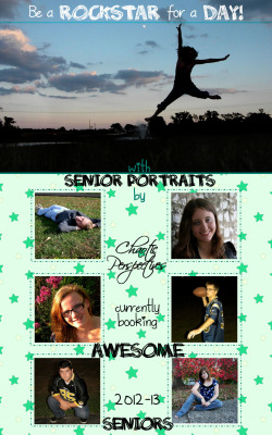Fact: We are currently booking awesome seniors.Fact: It may as well be summer outside right now - let's get cracking!False: We're boring old people. We take the same pictures over and over again.Fact: We will make sure you LOVE your pictures when we're done. We will incorporate things you LOVE into your pictures. Like football? Like zombies? Like playing in a band? Like dancing? Love your new car? Let us know!Your personality dictates your life, why not have it be in charge of your senior pictures?Shoot us a message - ChaoticPerspectives@yahoo.com - or give me a call 636.293.4721 for more information and to book your session.
