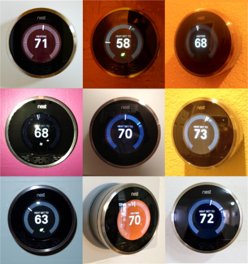 (via Nest | The Learning Thermostat | Pics of Nest in real homes.)