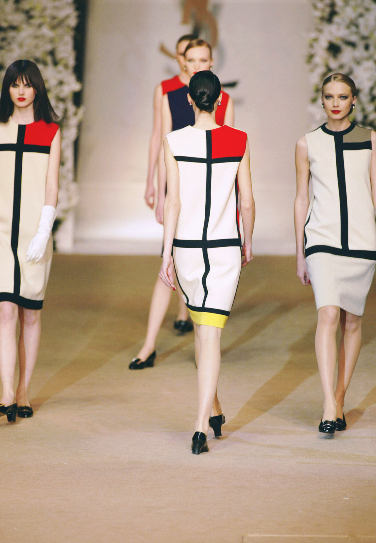 yves st. laurent's mondrian dress from 1966, featured in his last show for the label in the spring of 2002