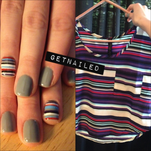 getnail-d:  Did my nails to match this shirt I got!