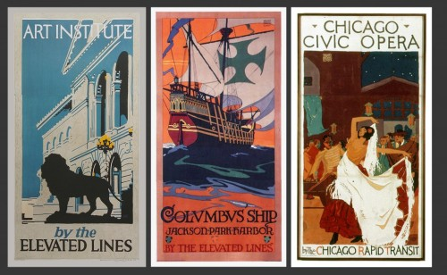 angwe:  (via Posters that rival the London Underground - Salon.com) Art Deco posters for public transit around Chicago. Click through to the article for an amazing look at all of them.