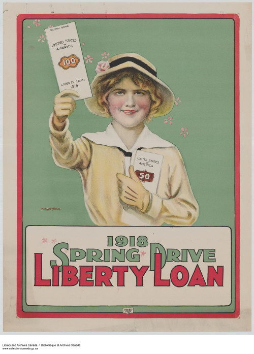 1918 Spring Drive Liberty Loan :  liberty loan drive.  Credit: Library and Archives Canada, Acc. No. 1983-28-2676Copyright: Expired / PériméArtist: Wilson, Craig.