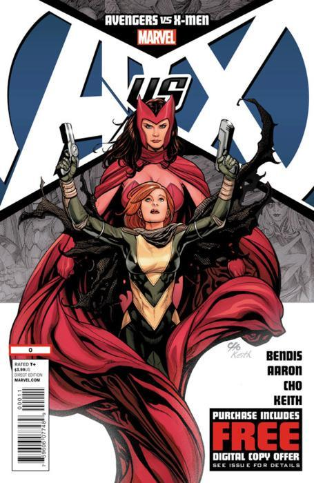 "BOOK OF THE WEEK 3/28/12 ""AVX #0"" You were expecting something else?? With all the hype and all the teasers over the last few months, finally the biggest event in comic book history is upon us. Today was the release of ""AvX #0"" which serves as the prologue to issue #1 which debuts next week. I highly recommend picking up Avengers 24.1 along with this issue since the return of Vision ties into the Scarlet Witch portion of #0 but if it's not in your budget you don't have to go out of your way to pick it up."