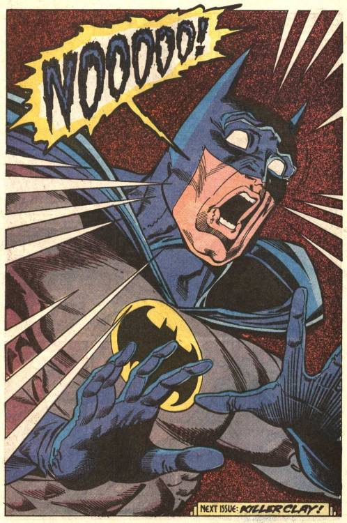 about-faces:   From Detective Comics #605, by Grant, Breyfogle, and Mitchell.    This is basically my reaction to the new Tumblr interface.
