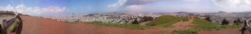 The view from Bernal Heights Park