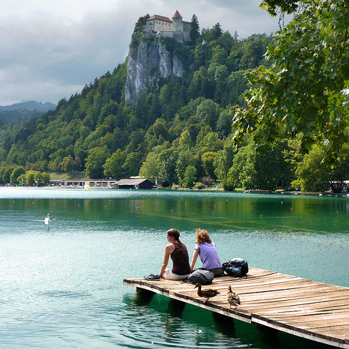 "Enjoying the overwhelming beauty of Bled (di Bâ""®n)"