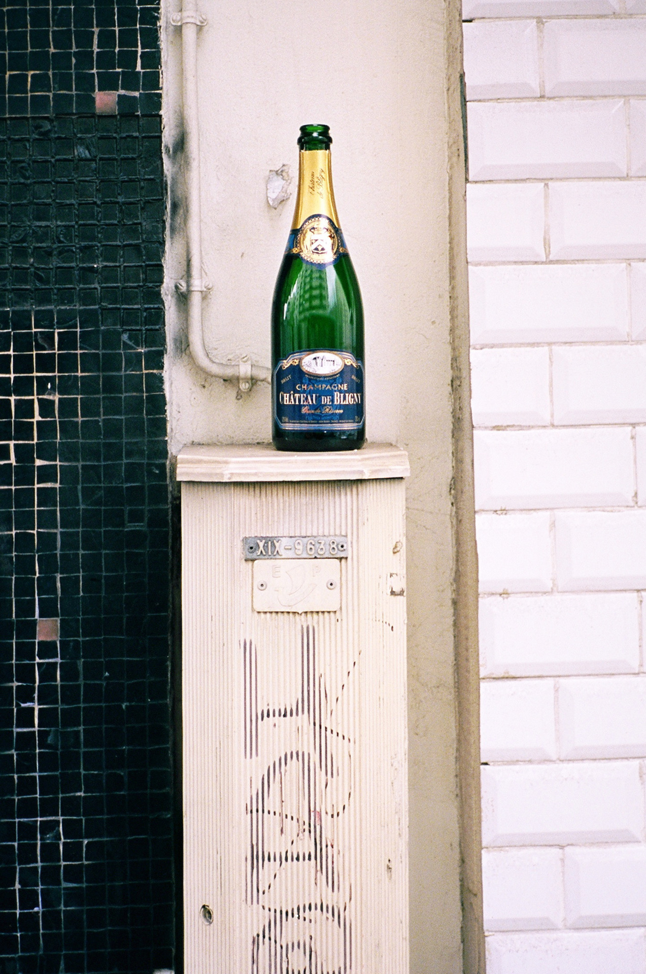 Found champagne, Paris.