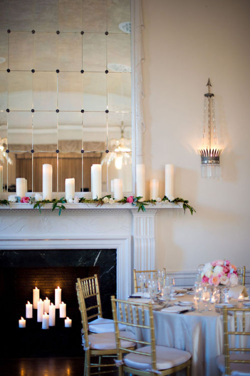 Love candles in fireplaces!