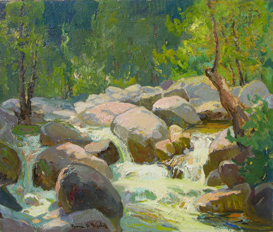 paperimages:  Franz Bischoff - Rushing Waters, Arroyo Seco