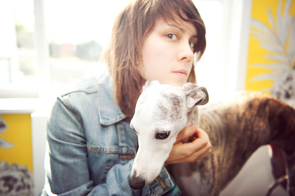 tegan with a dog, now all i need is sara with a puppy and i can die happy