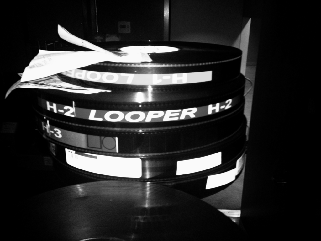 Time travel in six reels. loopermovie:  Shot and printed on glorious 35mm Kodak stock. :-)