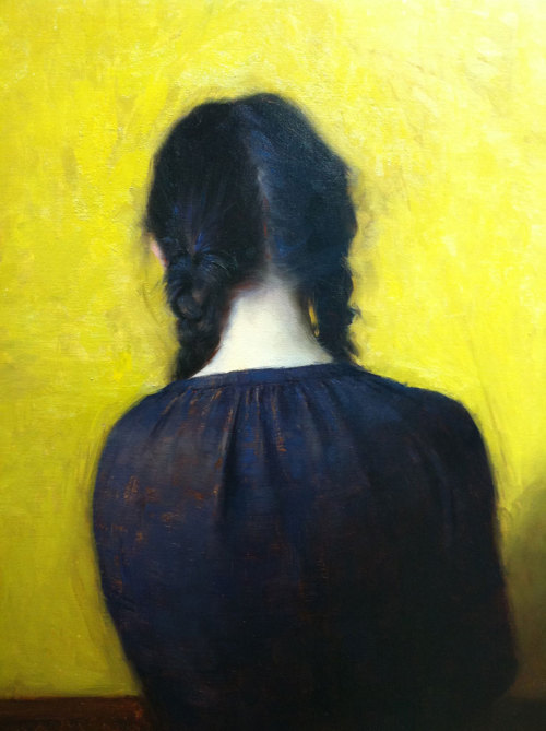 "Jeremy Lipking, ""Braids,"" Oil on Linen, 24"" x 18"""