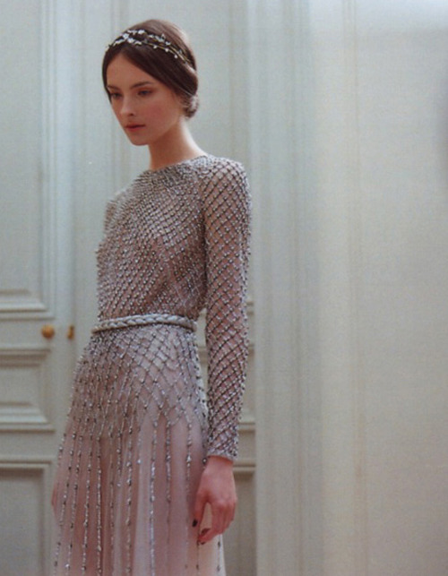 lavandula:  allaire heisig backstage at valentino haute couture autumn/winter 2011-2012