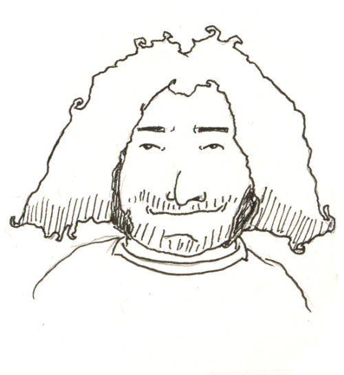 We've been watching Lost recently. I had to draw me some Hurley.