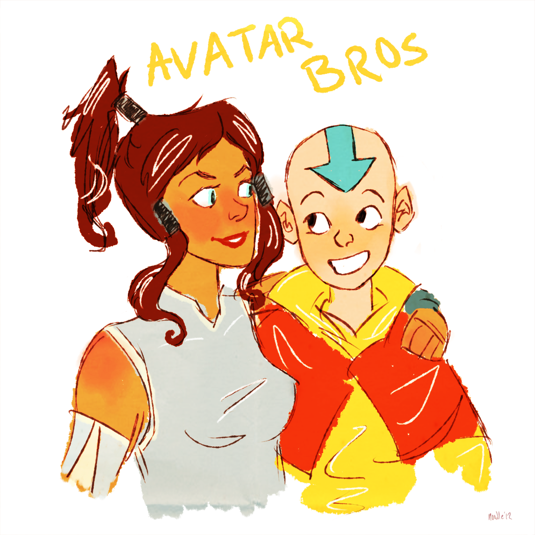 notgroovy:   thearchitect-of-flowers asked you:   Avatar: The Last Airbender; Avatar: The Legend of Korra   I ACTUALLY LIKE ALL OF THE CHARACTERS BUT WOULDN'T IT BE CUTE IF AANG AND KORRA WERE BUDS WOULDN'T IT