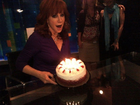 Reba's surprise birthday cake!