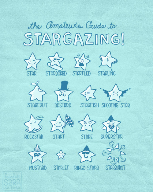 STARS AND PUNS. It's what I do best. Vote for it on Threadless!