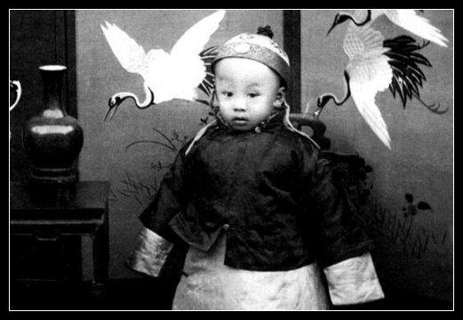 This was the last Emperor of China.  His name is Puyi and his reign was from December 2, 1908 - February 12, 1912.   For some odd reason I find it fascinating that a small child was the emperor/leader of an entire country at one time. http://en.wikipedia.org/wiki/Puyi