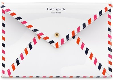 prepfection:  Cannot get enough of this Kate Spade envelope clutch, especially because I've been on a letter writing binge the last few days.