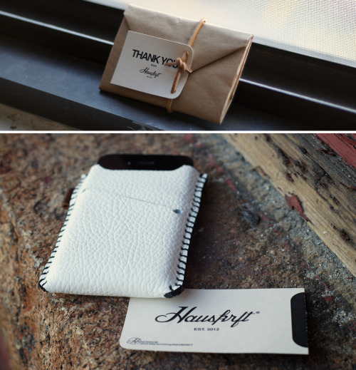 ANCHOR DIVISION: Hauskrft - Leather iPhone Sleeve Wallet