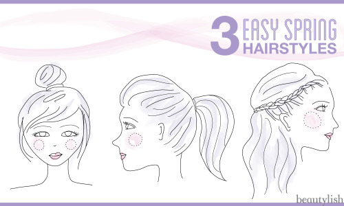 Try these three easy spring hairstyles!