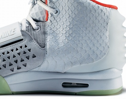Nike Air Yeezy 2  new pics of the Wolf Grey Yeezy 2, along with a look at the sketches.  really liking the reptile skin uppers and of course the glow in the dark sole.  click here for more pics, and stay tuned for more info on the June release Related articles Nike Air Yeezy 2 'Cheetah' - New Images (sneakerfiles.com)
