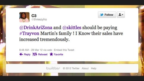 Unwanted Publicity from Skittles and Arizona Iced Tea: http://www.adweek.com/adfreak/skittles-arizona-iced-tea-caught-no-mans-land-trayvon-martin-case-139248