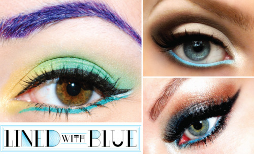 beautylish:  Check out how these Beauties added a pop of color by lining their lower lashes with blue!