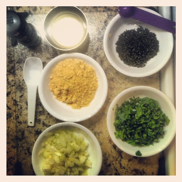 088 - I'm cooking. #kitchen #cook #ingredients #dinner #portions #photooftheday #photoaday  (Taken with instagram)
