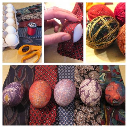 Using old silk ties to dye Easter eggs… imagine the possibilities! (via Reddit)