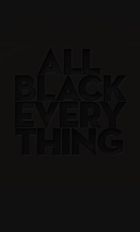 tinyblackheart:  All Black Everything. Made this for my friend's birthday party.