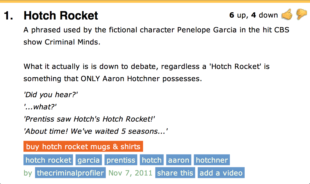criminallymindless:  What I found while perusing through Urban Dictionary. I have so much respect for the entry writer, lol.