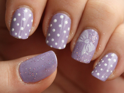 beautylish:  What cute lavender nails from Beautylish Beauty Stefi J.!