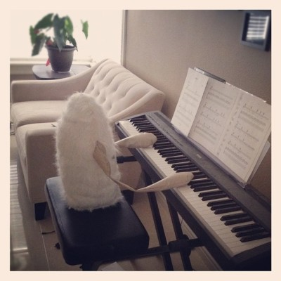 Gotta practice #piano (Taken with instagram)
