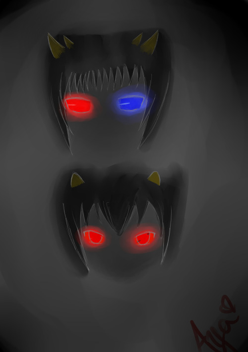 I think troll eyes kind of glow in the dark.Mainly Sollux's.Really I just wanted to draw eyes…