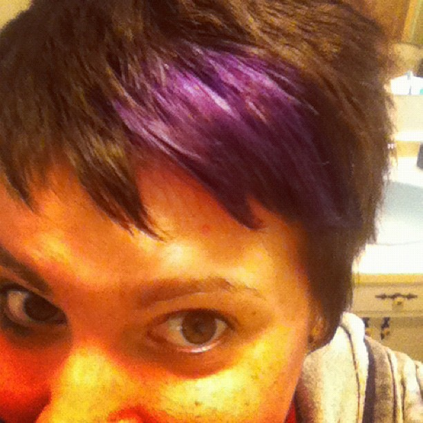 Purple hairs! (Taken with instagram)