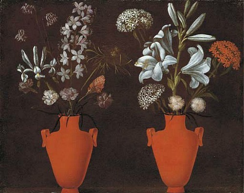 Jacopo Ligozzi Red Vases with Flowers Late 16th - early 17th century