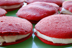 foodescapades:  Red Velvet Whoopie Pies with Cinnamon Ricemellow Filling