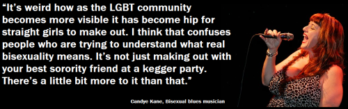 LGBTQ* Quips and Quotes There's a little bit more to it than that. — Candye Kane