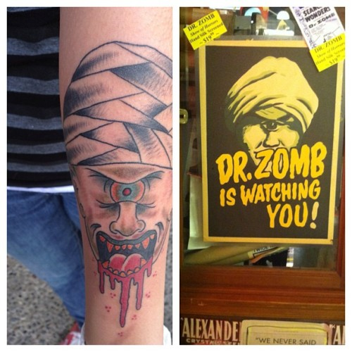 Thanks @midgettt666ftw it rules! #tattoo #arm #mammothtattooparlor #drzomb (Taken with instagram)