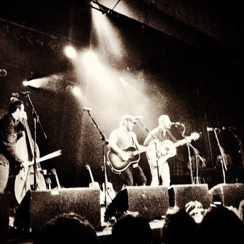 "Chuck Ragan and Dan Andriano performing ""Bleeder"" on the Revival Tour. (Taken with Instagram at The Trocadero Theatre)"