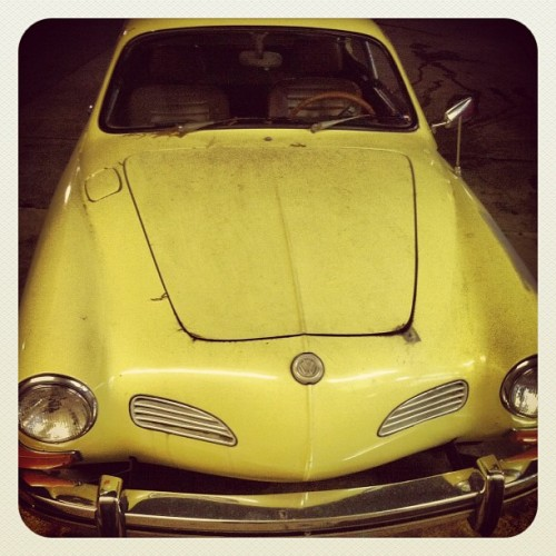 My dream car was chillin at the corner store. #vw #karmann #ghia (Taken with instagram)