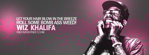 Wiz Khalifa Roll Some Weed Facebook Cover