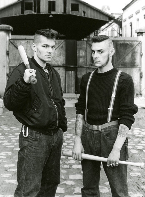 Red Warriors antifascist street gang, Paris, 1980's.