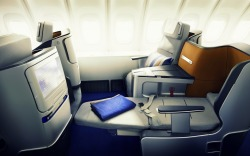 wanariefimran:  I think this is Lufthansa's Business class on their 747-8i. Can't read Italian.. (Centounoviaggi)