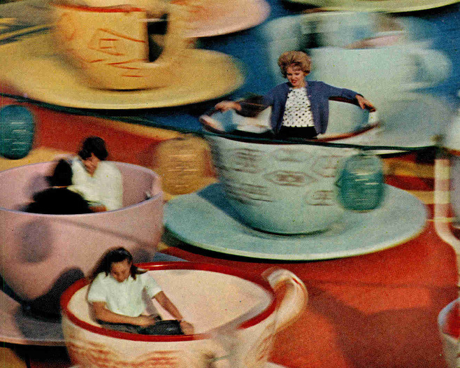 Mad Tea Party, Disneyland 1963.
