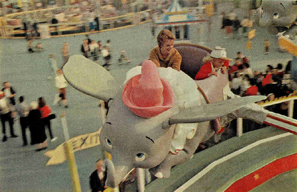 Dumbo the Flying Elephant, Disneyland 1962.