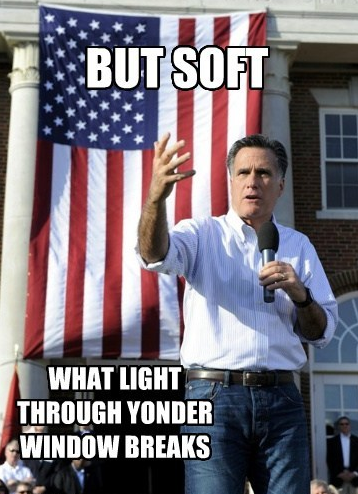 cognitivedissonance:  I will give Mitt Romney a dollar to do this in the middle of a speech.  Whoa, I just realized that Mitt looks a whole lot like Bruce Campbell. If there is a Romney movie.. Bruce has to ham it up.