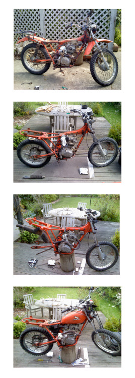 HONDA CT125. 1976 Latest project.