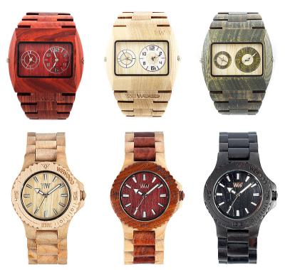 Love these WeWood wooden watches. They take a sophisticated sustainable approach in producing a very unique timepiece. Completely absent of artificial and toxic materials and available in a number of styles and colours.